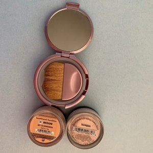 bareMinerals Makeup - Set of MEDIUM foundation&Bisque with compact case